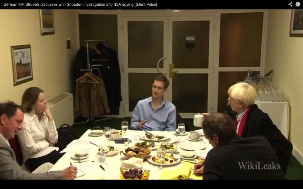 Hans-Christian Ströbele rencontre Edward Snowden