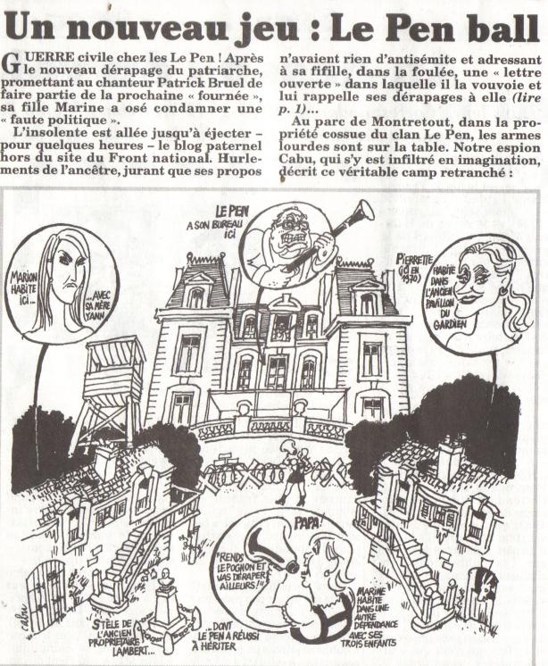 Cabu espion chez Le Pen