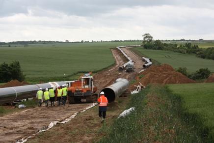 Le chantier de la première section du gazoduc des « Hauts-de-France II » s?étend sur 51 km à travers le Nord-Pas-de-C