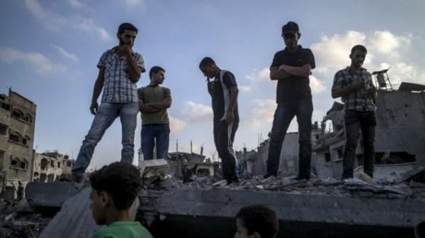 Palestiniens à Gaza