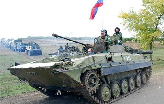 Russian troops gathering near Lysychansk and Debaltseve. Photo source: UkrInform