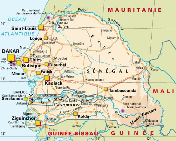 senegal-carte