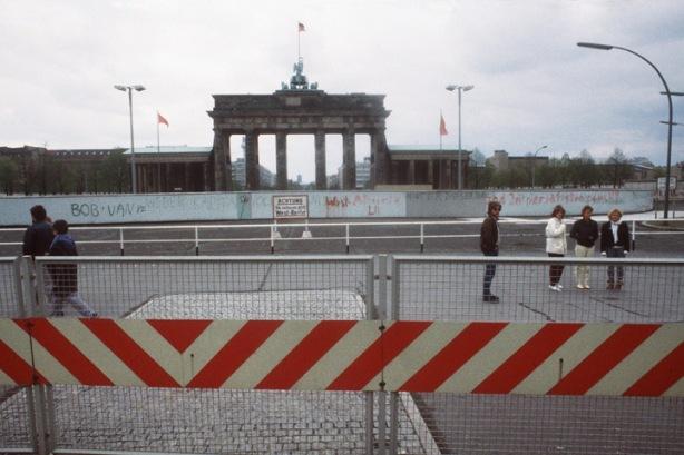 The Brandenburg Gate in 1984