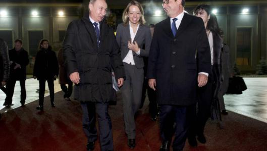 Hollande Poutine Visite éclair