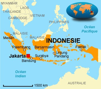 carte indonesie
