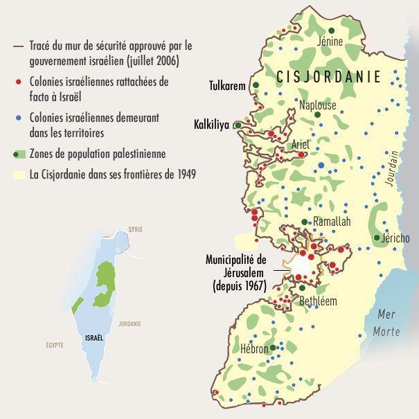 carte palestine