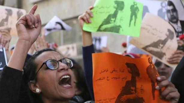 Manifestation de femmes après le meurtre de la militante Shaimaa el-Sabbagh © REUTERS | Mohamed Abd El Ghany