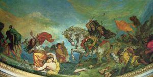 © Eugène Delacroix (1847), Détail Attila suivi de ses hordes barbares foule aux pieds l'Italie et les Arts