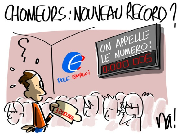 france chomage record
