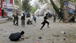 Explosion meurtrière à Jalalabad, ce samedi 18 avril 2015.REUTERS/Parwiz