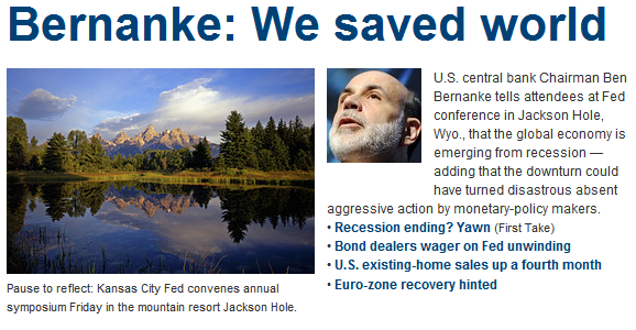 deflation bernanke we saved world