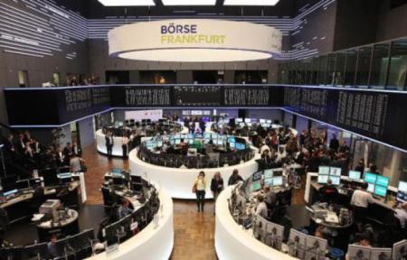 La Bourse de Francfort, en Allemagne (photo D. Roland AFP)